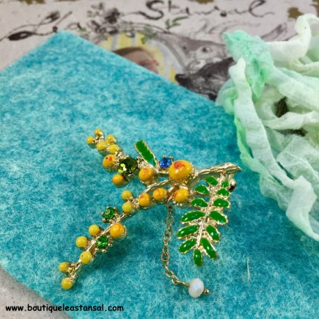 Inspiration : Broche Mimosa
